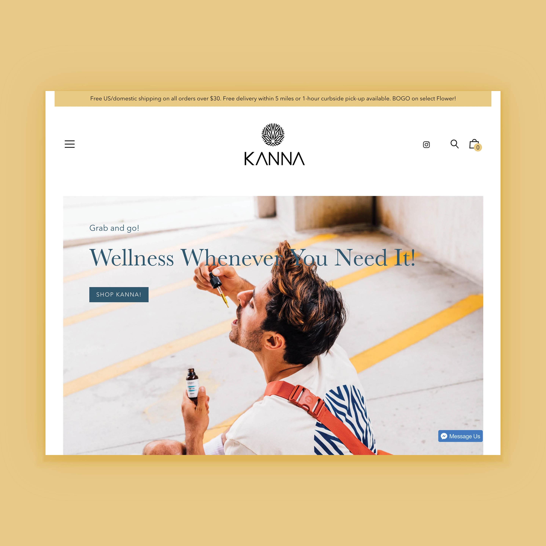 Kanna CBD E-Commerce Website Design by Brand Engine