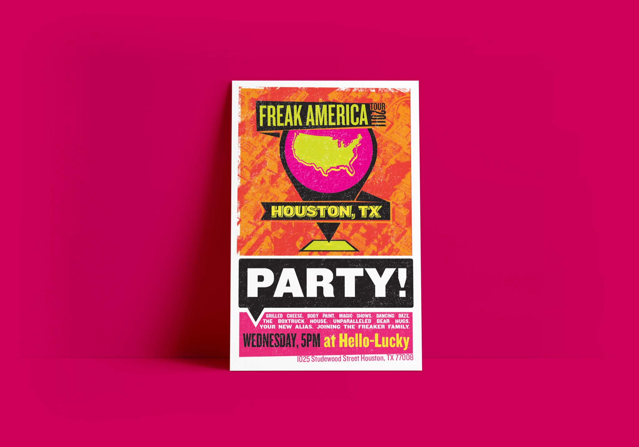 Freaker USA poster design - Graphic Design and Branding by Brand Engine