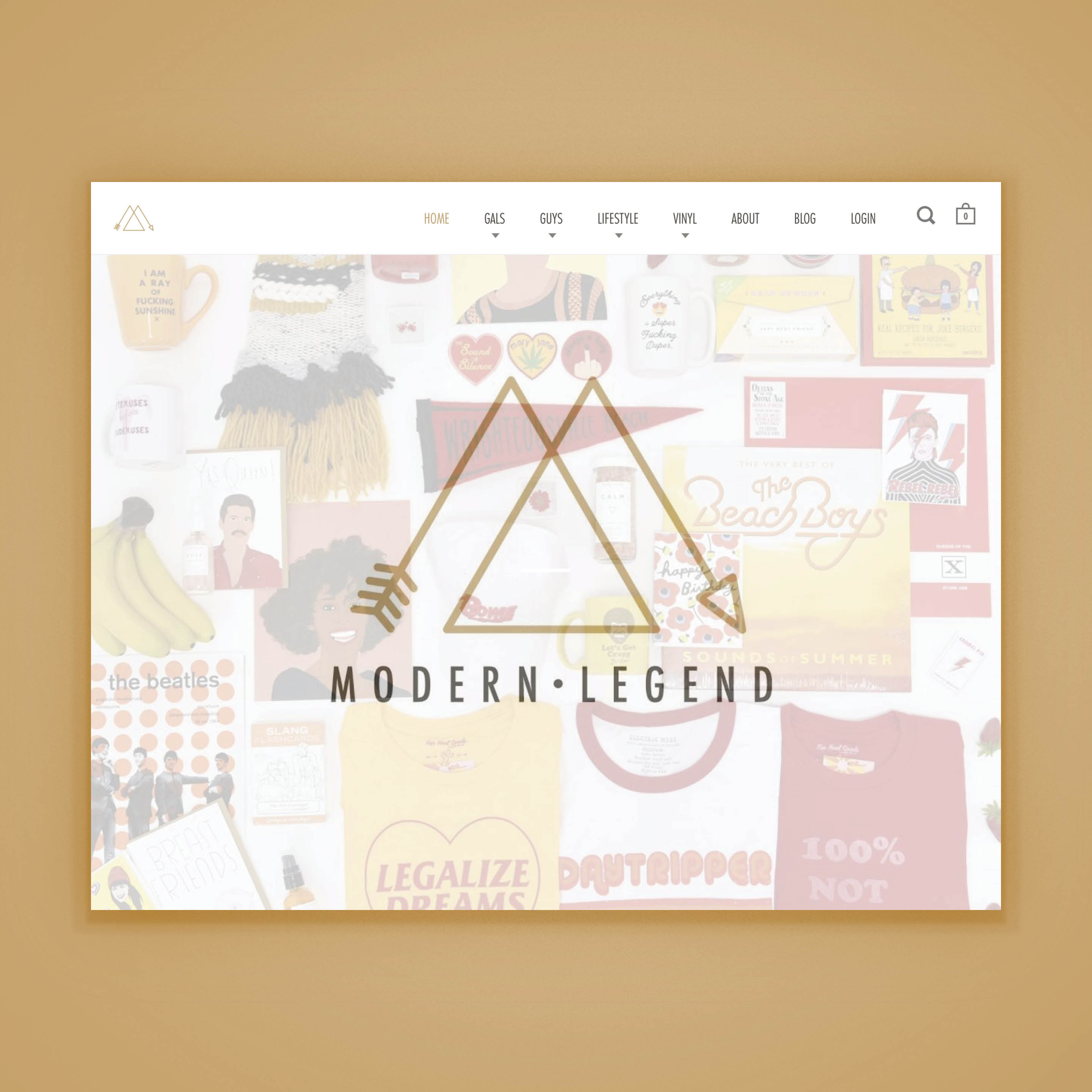 Modern Legend E-Commerce Website Design by Brand Engine