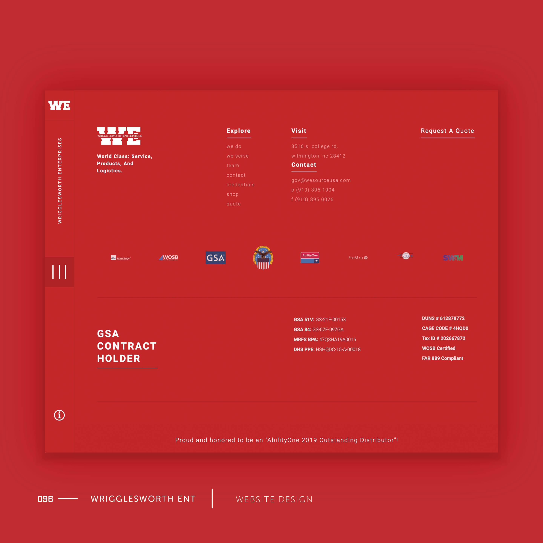 Wrigglesworth Enterprises Website Design by Brand Engine.