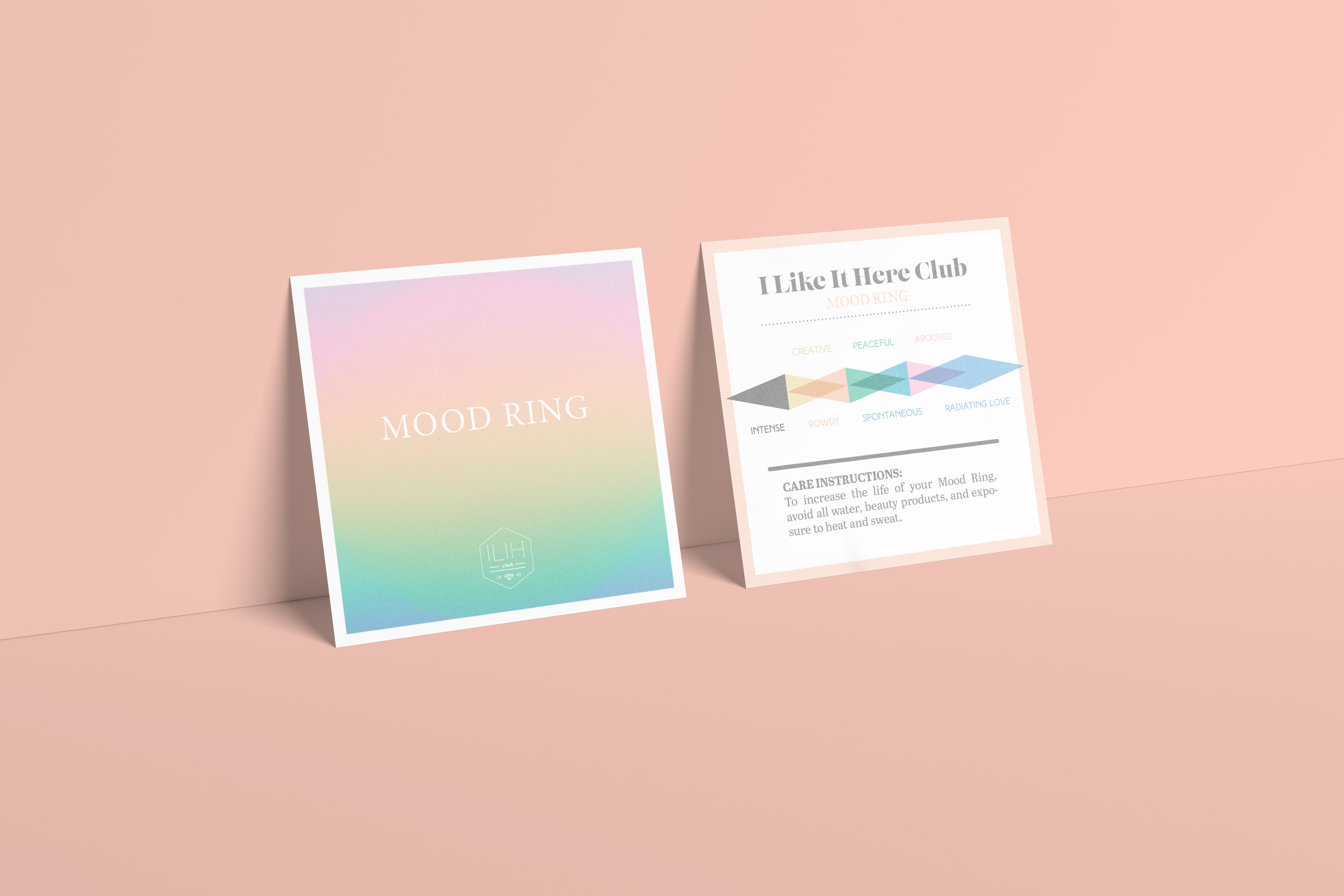 Brand Engine Creative Branding Agency - Care Card Design for I Like It Here Club