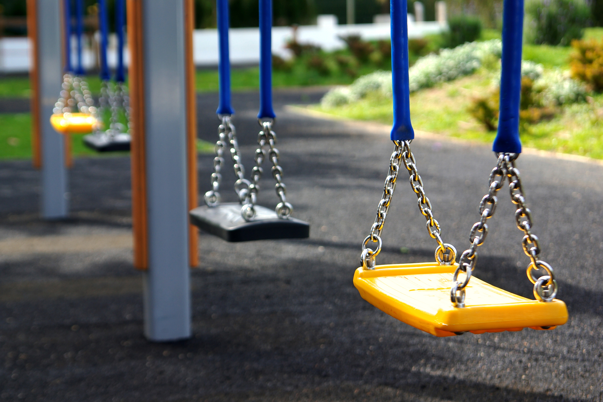 A swing set for kids