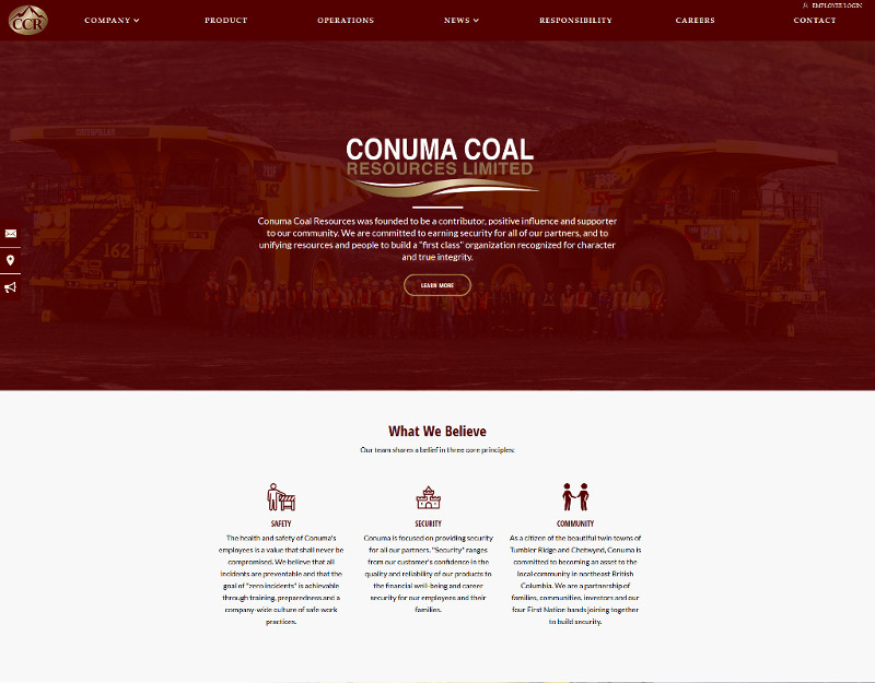 Life Names Business Websites - Conuma Coal Resources