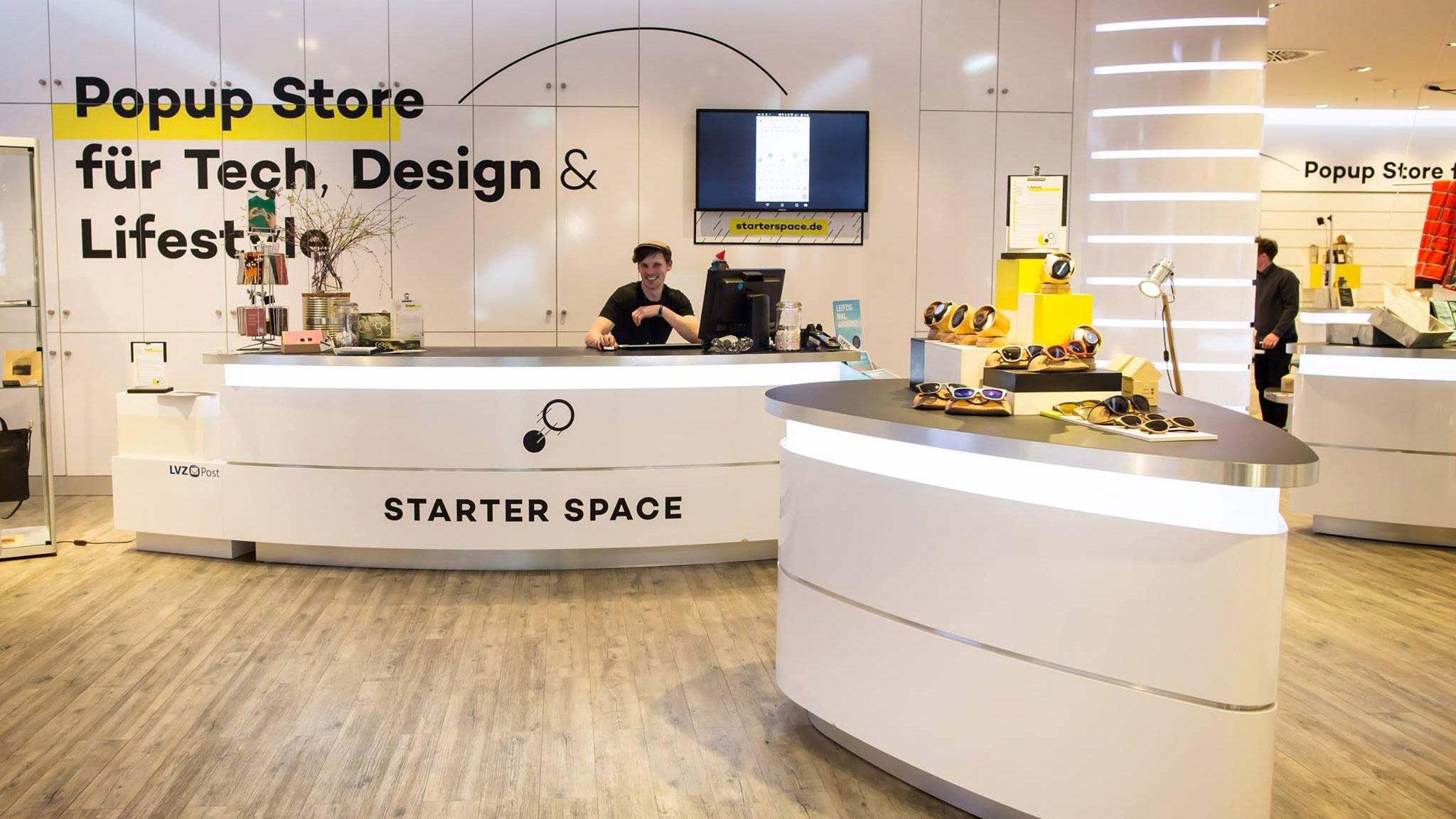 Innenaufnahme des Ladengeschäfts des Starter Space