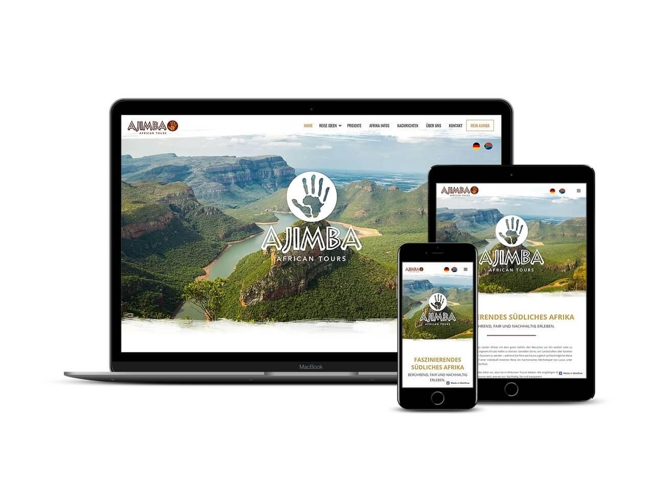 Custom Web Development Projects - Ajimba African Tours