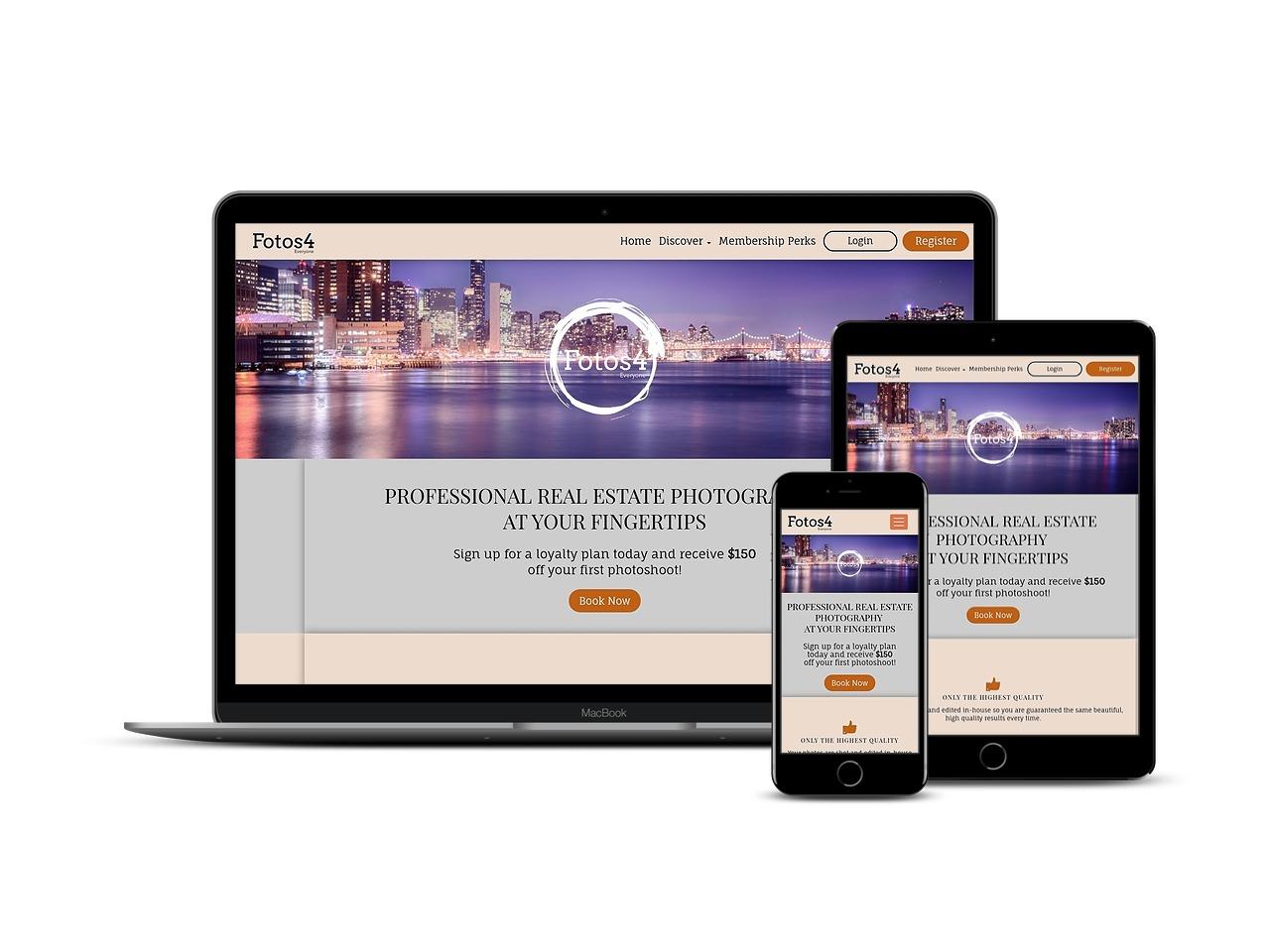 Custom Web Development Projects - Fotos4