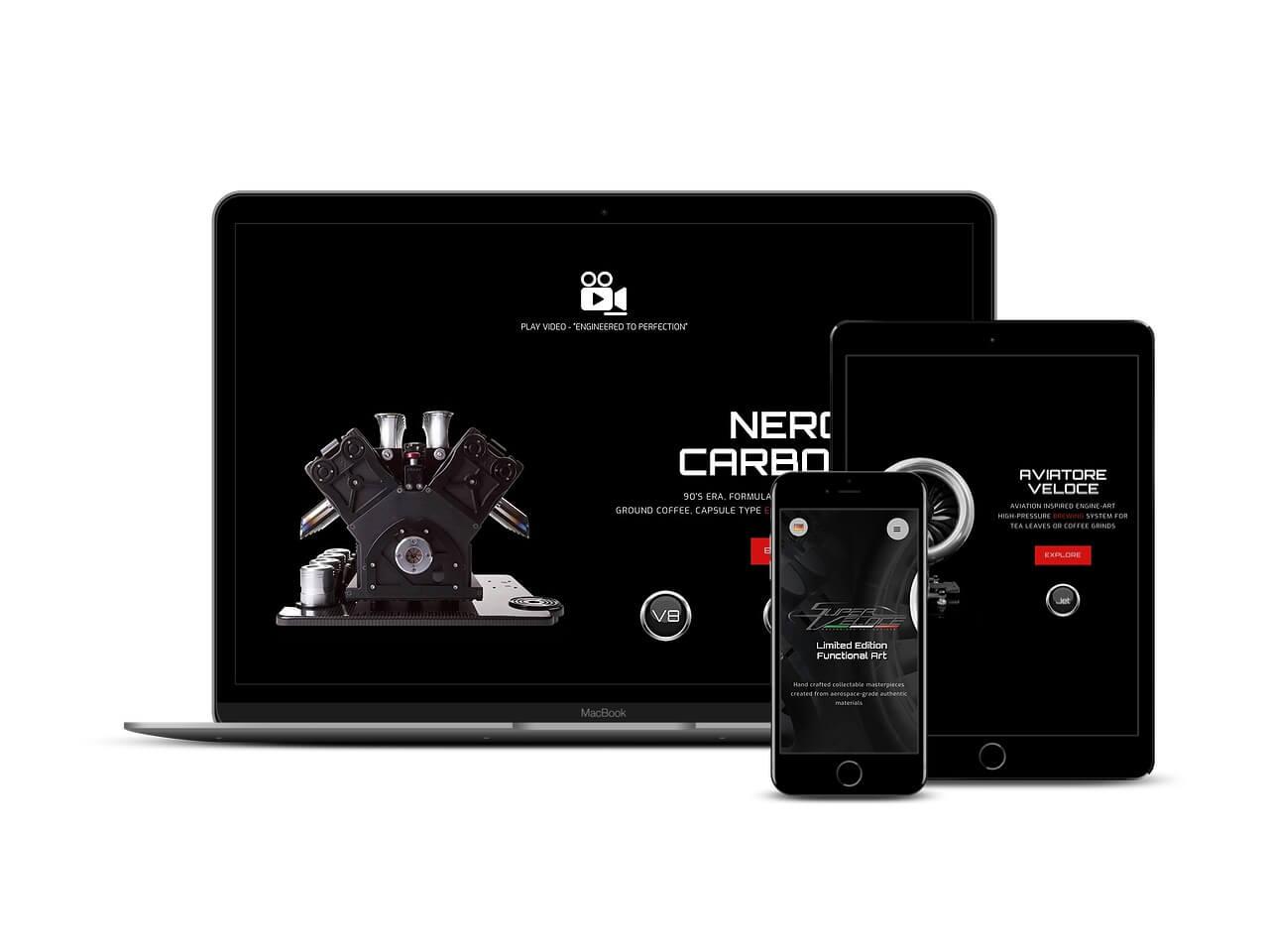 Custom Web Development Projects - Superveloce Magazine Insert