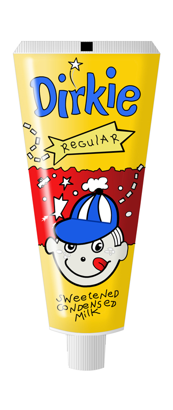 Dirkie Condensed Milk Tube Design