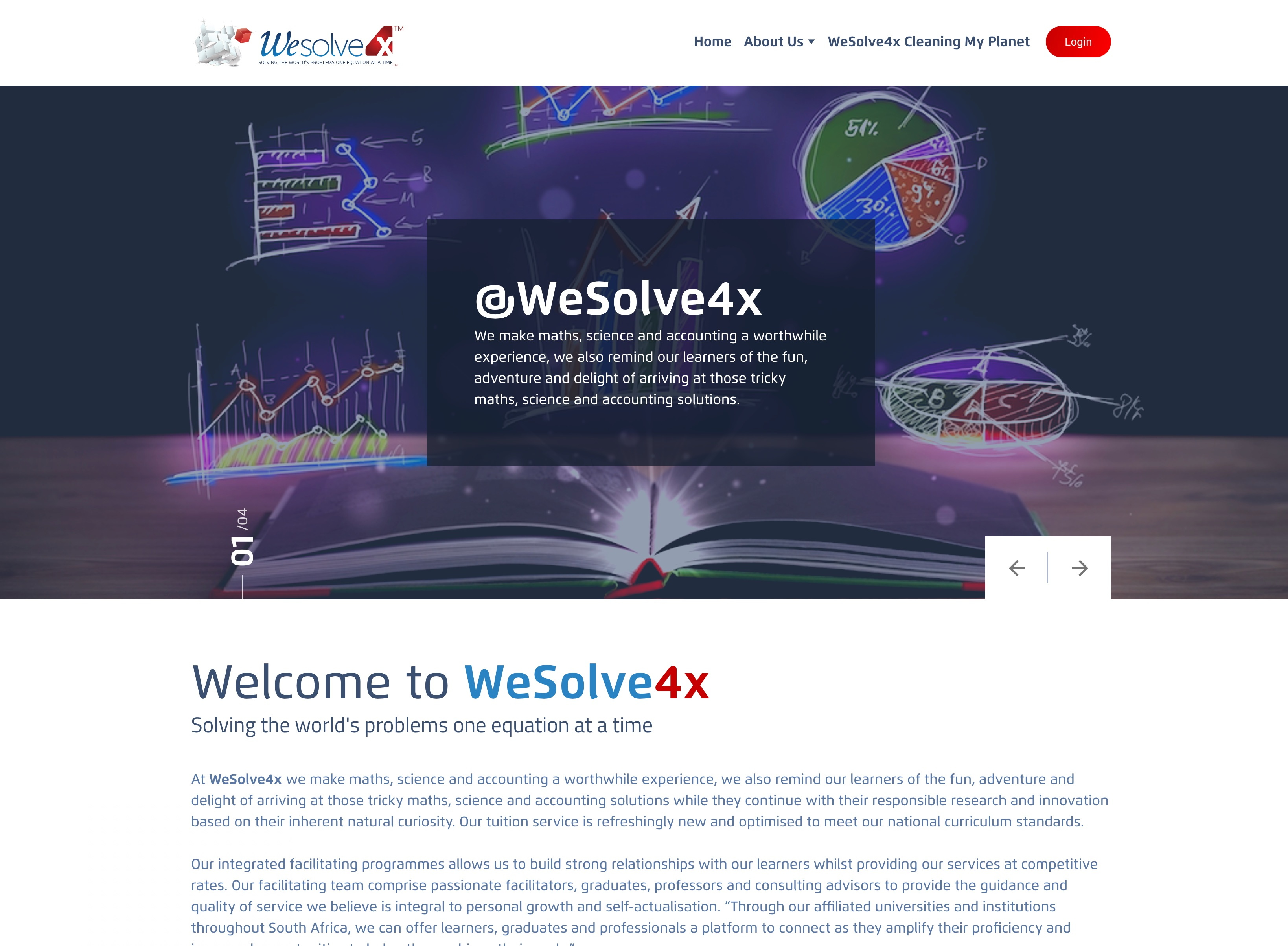 WeSolve4x Website Screenshot