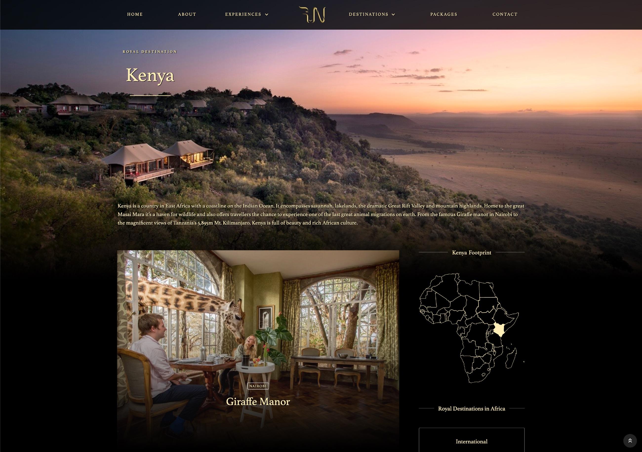 Royal Ngala Safaris - Website Screenshot