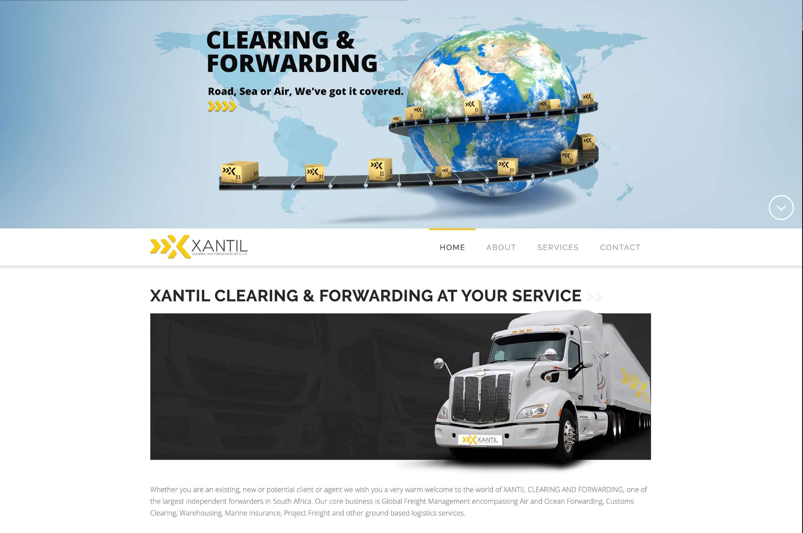 Xantil Website Screenshot