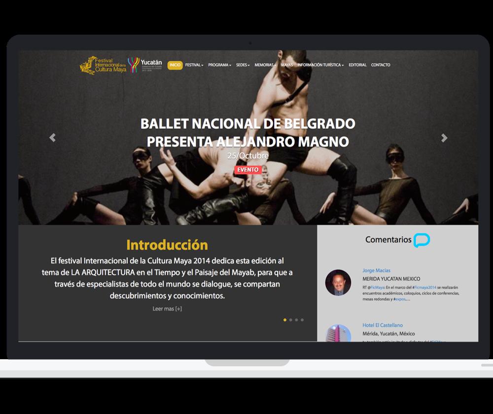 Sitio web festival internacional de la cultura maya