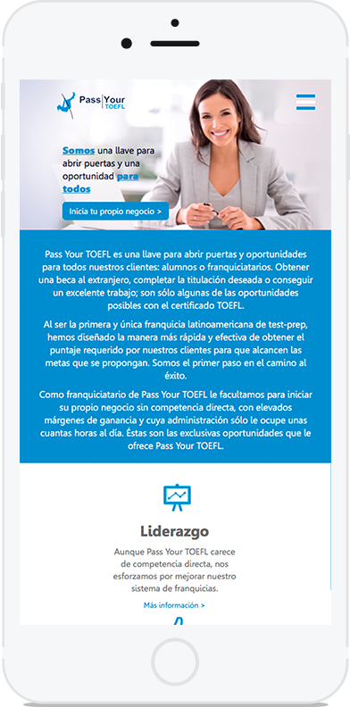 Sitio web pass your toefl