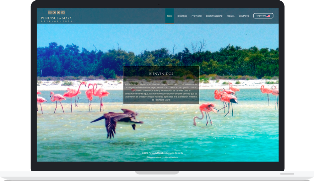 Sitio web península maya developments