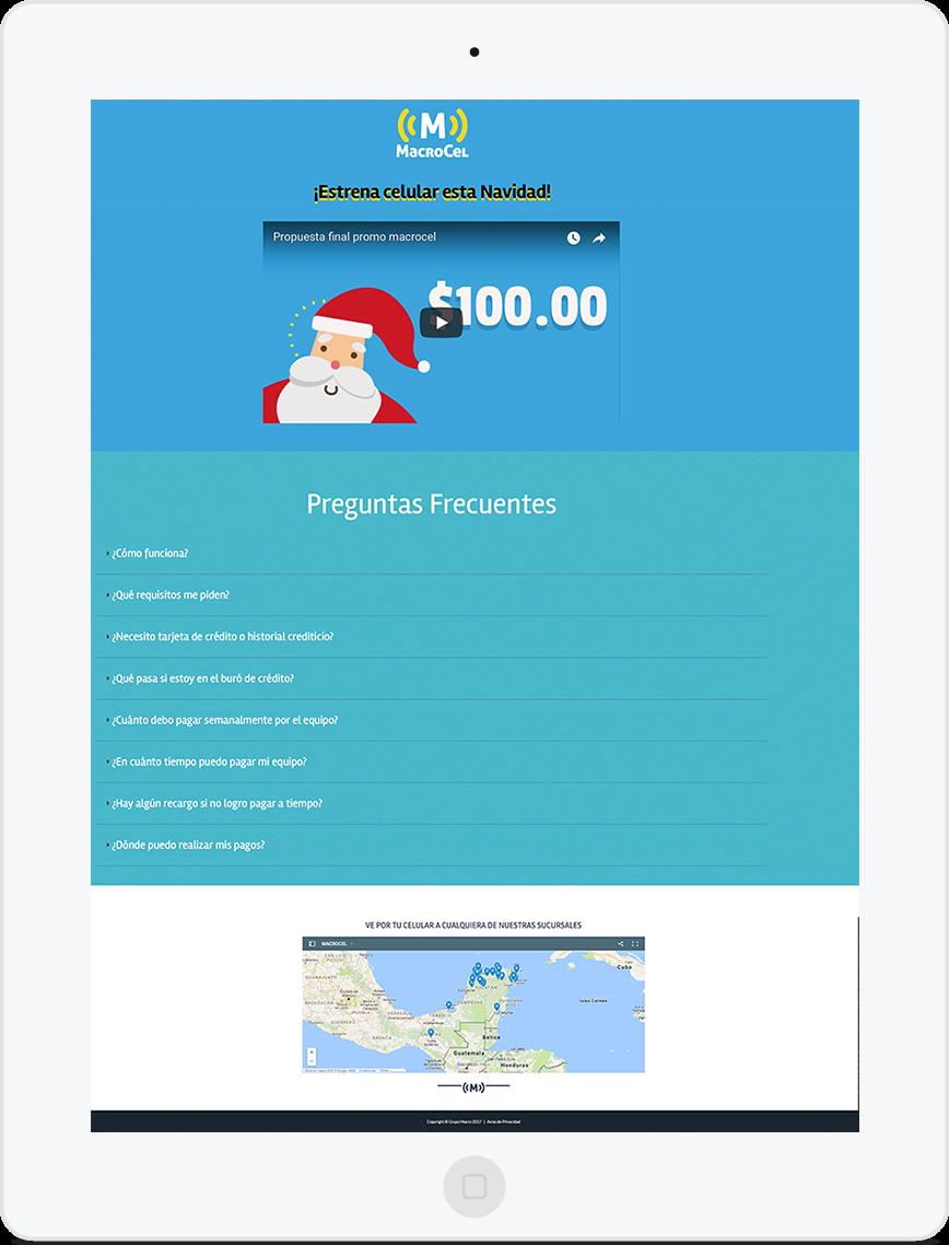 Sitio web Macrocel