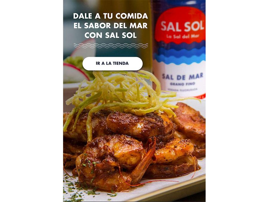 grafico receta sal sol