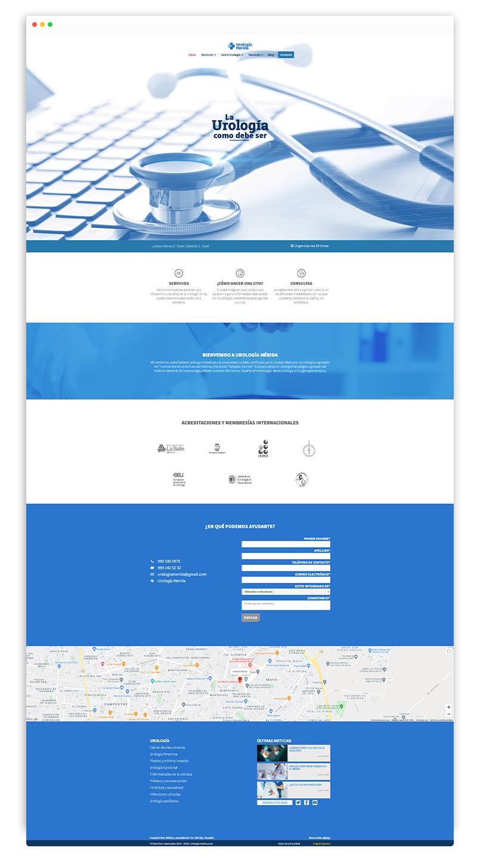 sitio web de urologia mérida