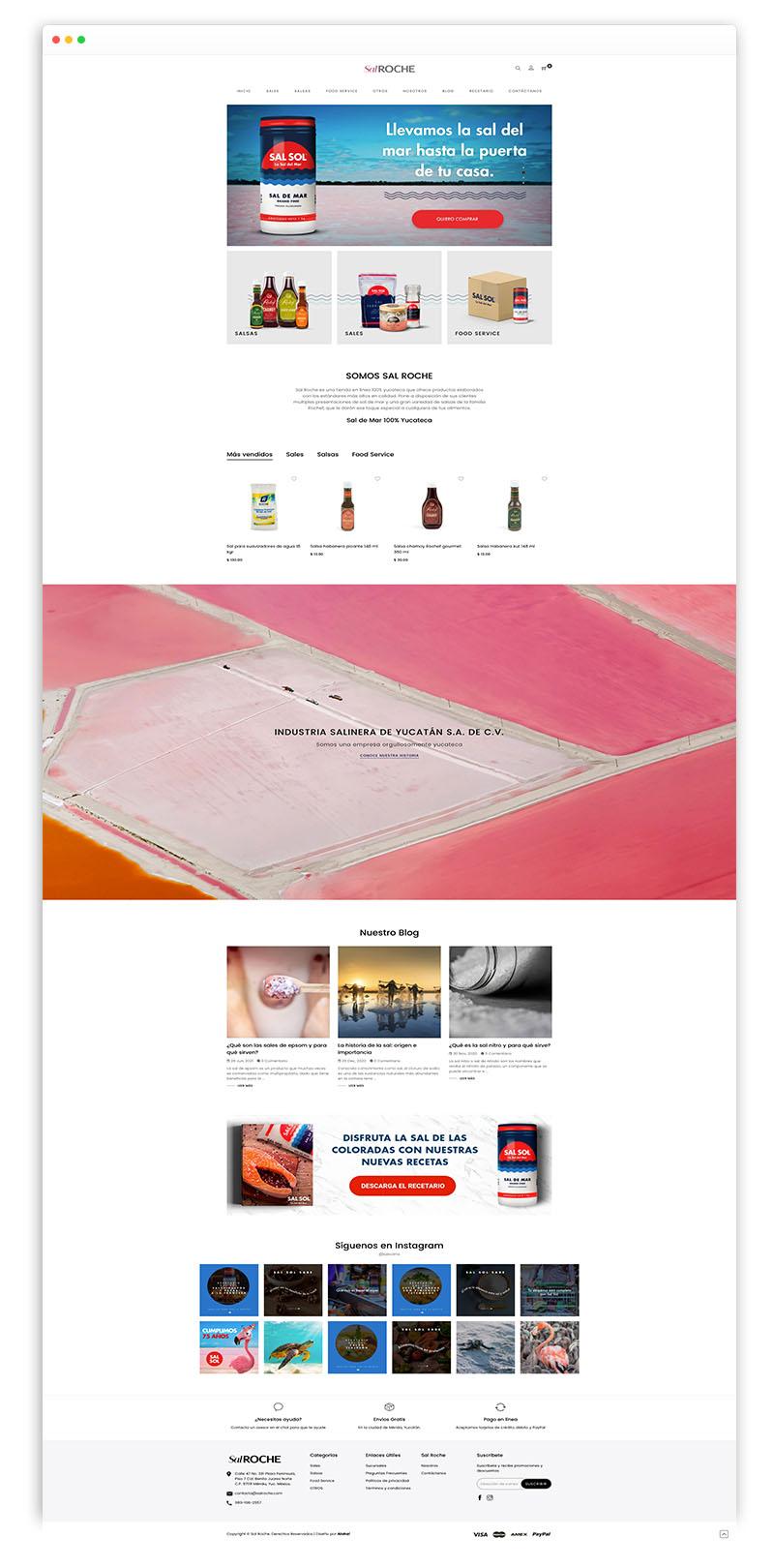 sitio web de sal sol