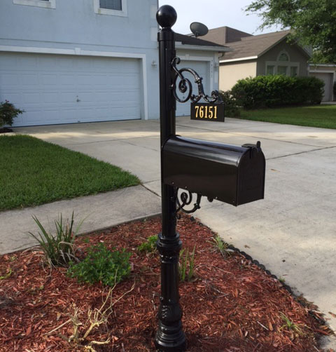Black Mailbox Powder Coated