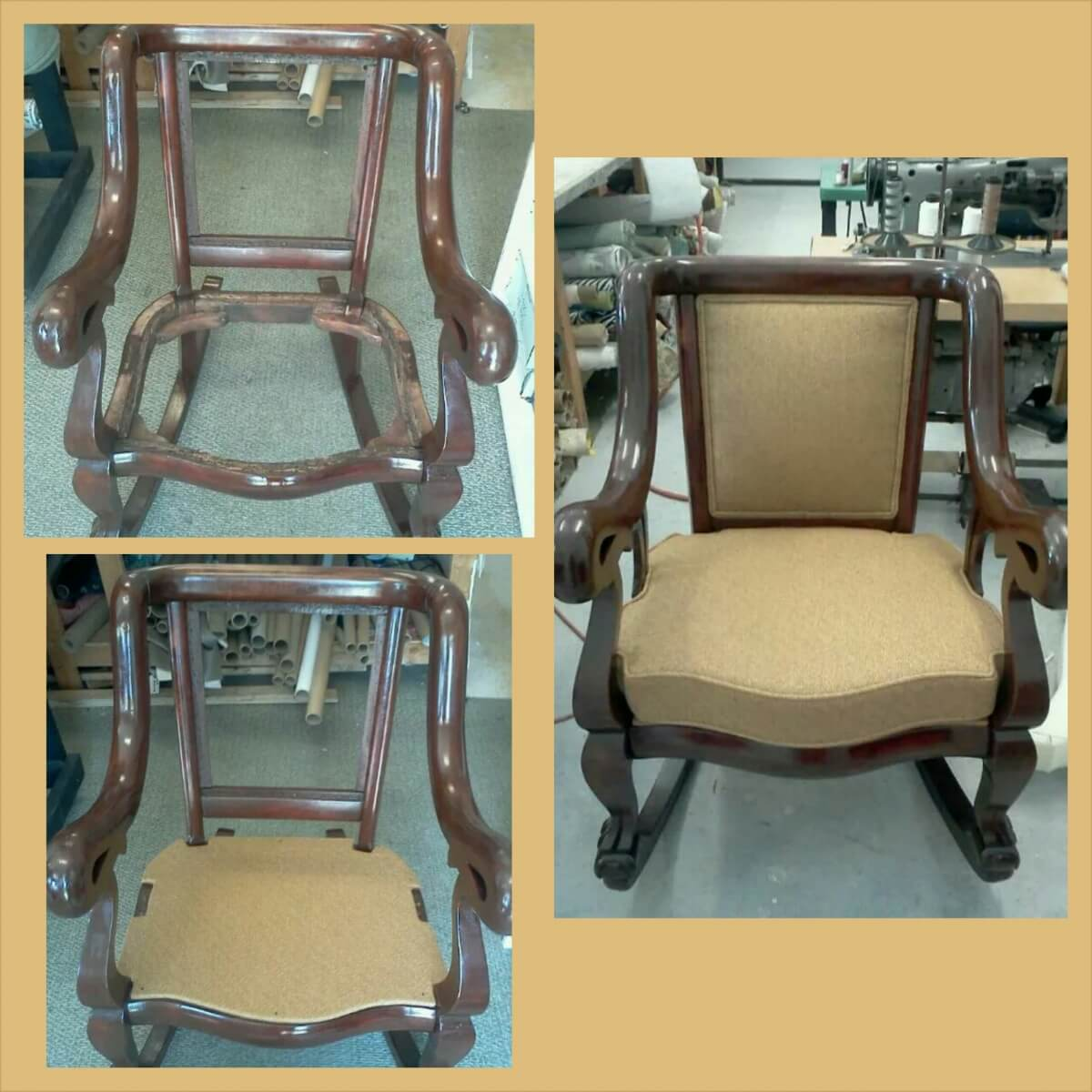 Wood Chair Upholstery