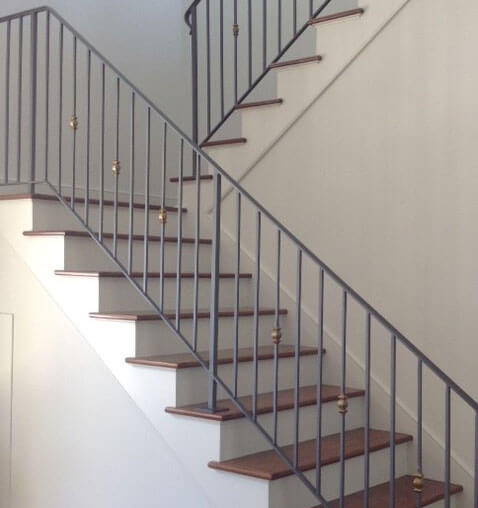Staircase Railings powder coated black