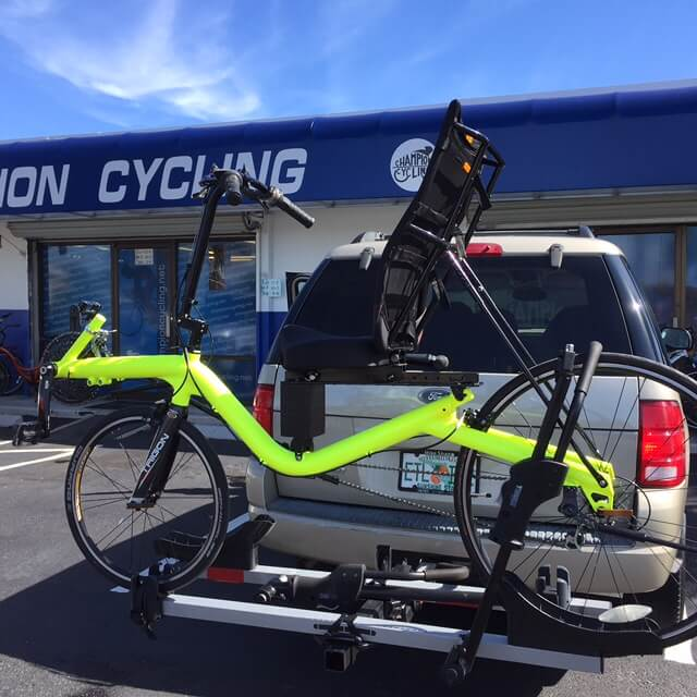 Bike Neon Green powder coated
