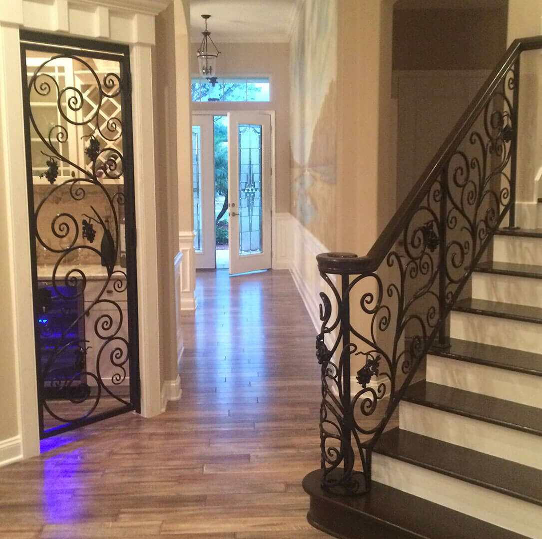 Railing and Door Black powder coated
