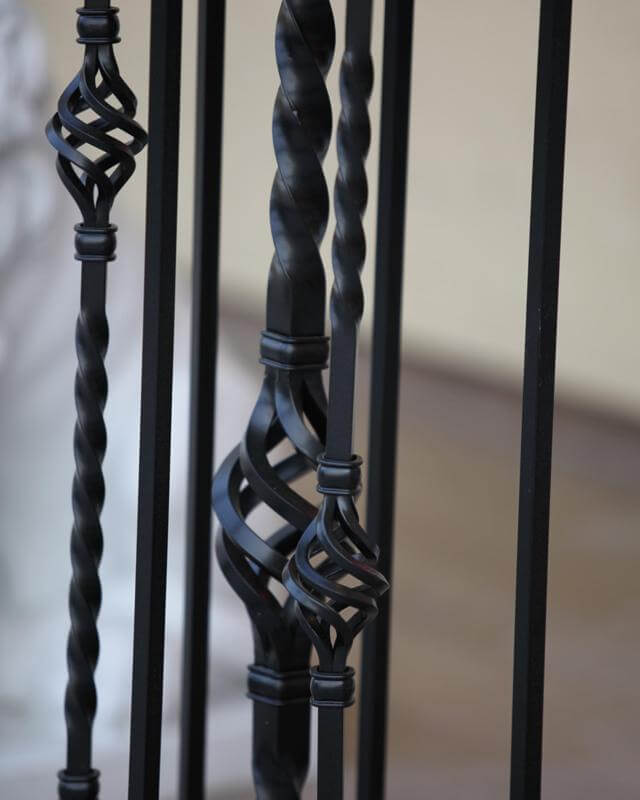 monahans rails black powder coated