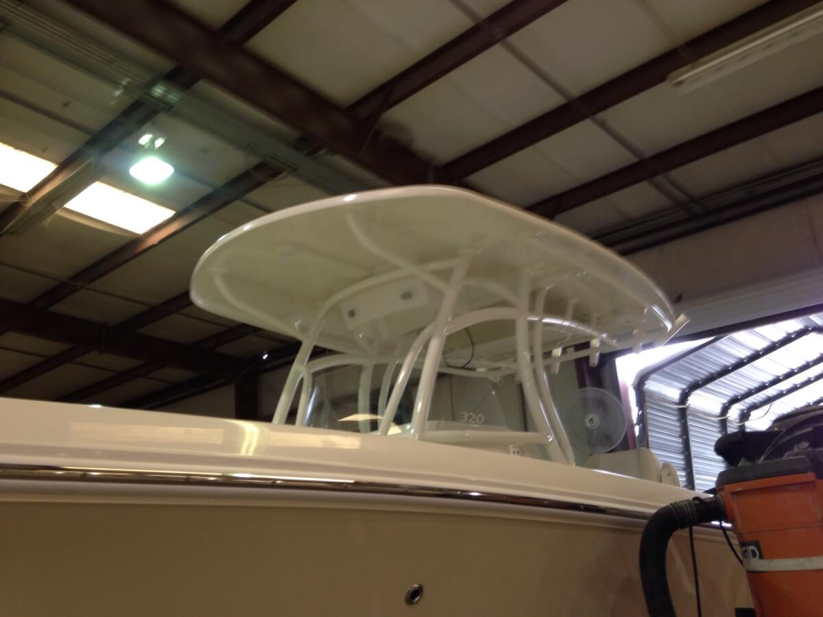 marine tower white powder coated