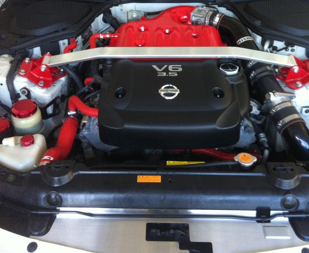 Nissan V6 Engine Red powder coated