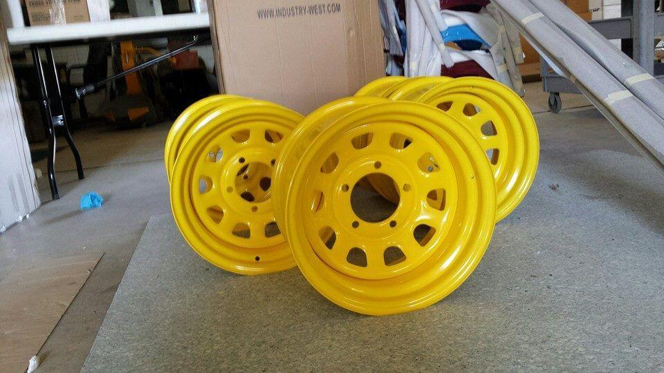 Yellow Rims powder coated
