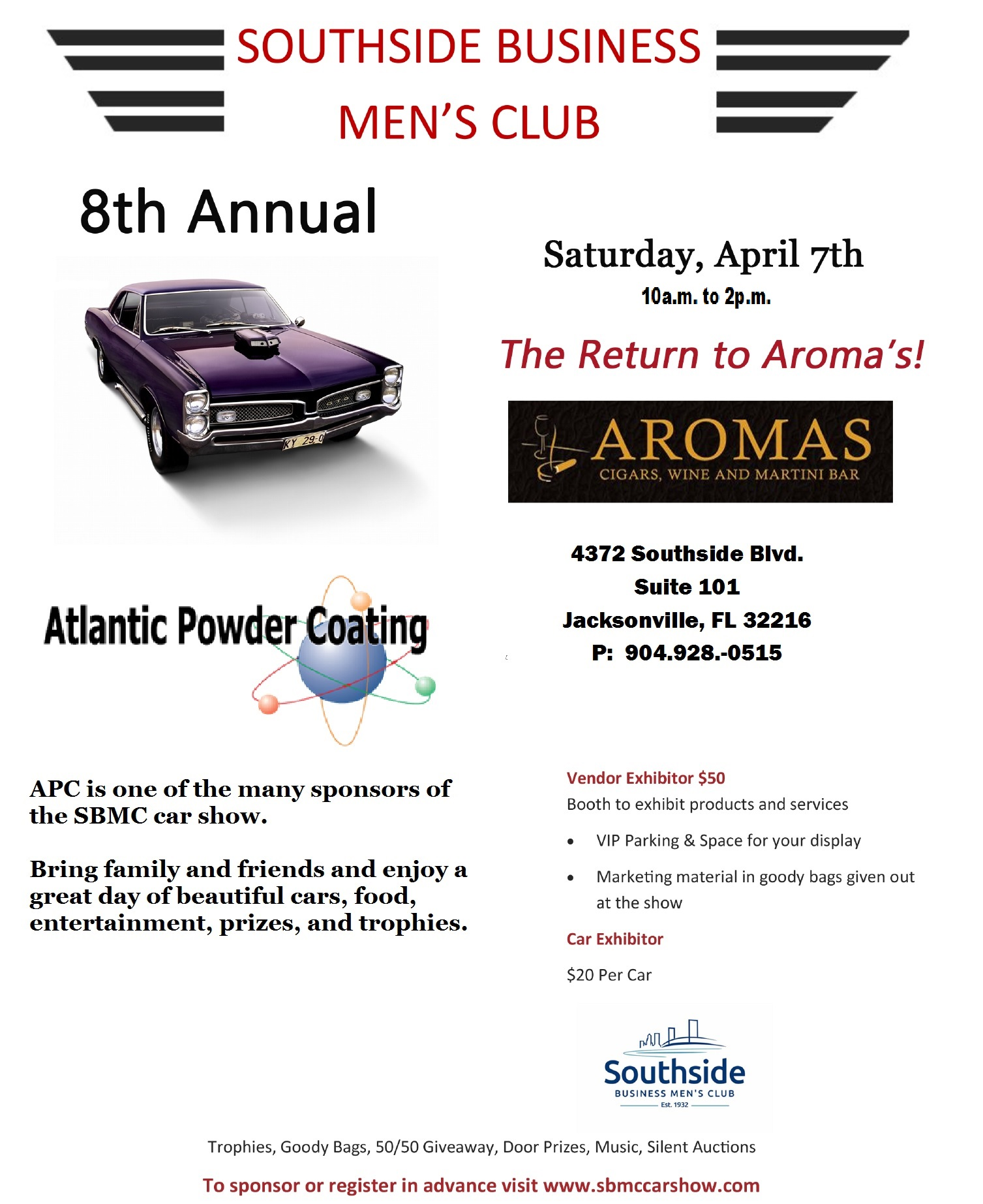 8th Annual - Southside Business Men's Club Car Show