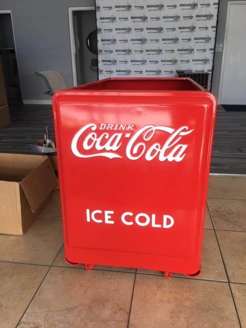 Coke Machine Powdercoated