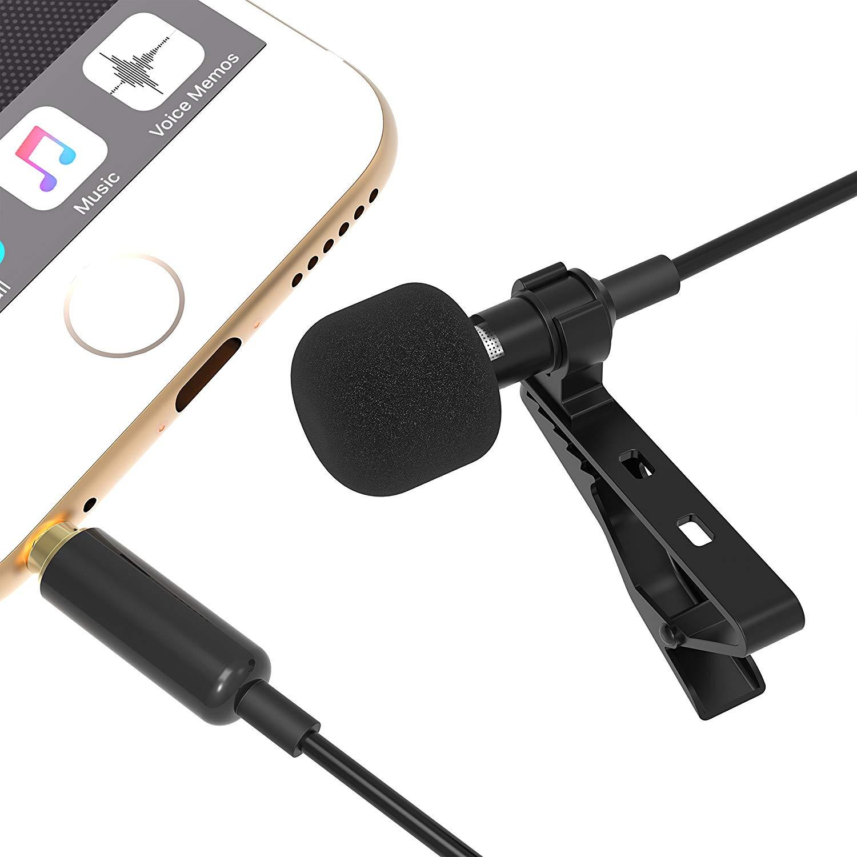 Micrófono condensador omnidireccional para iPhone y Android económico.