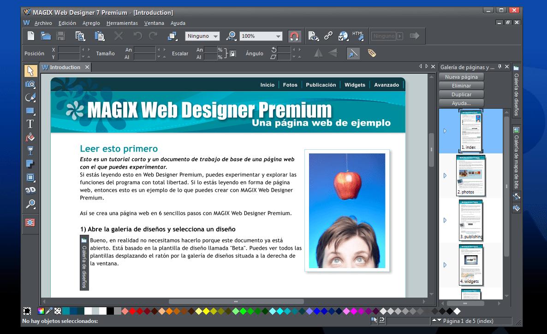 MAGIX Web Designer es uno de los softwares de diseño web favoritos de los diseñadores intermedios