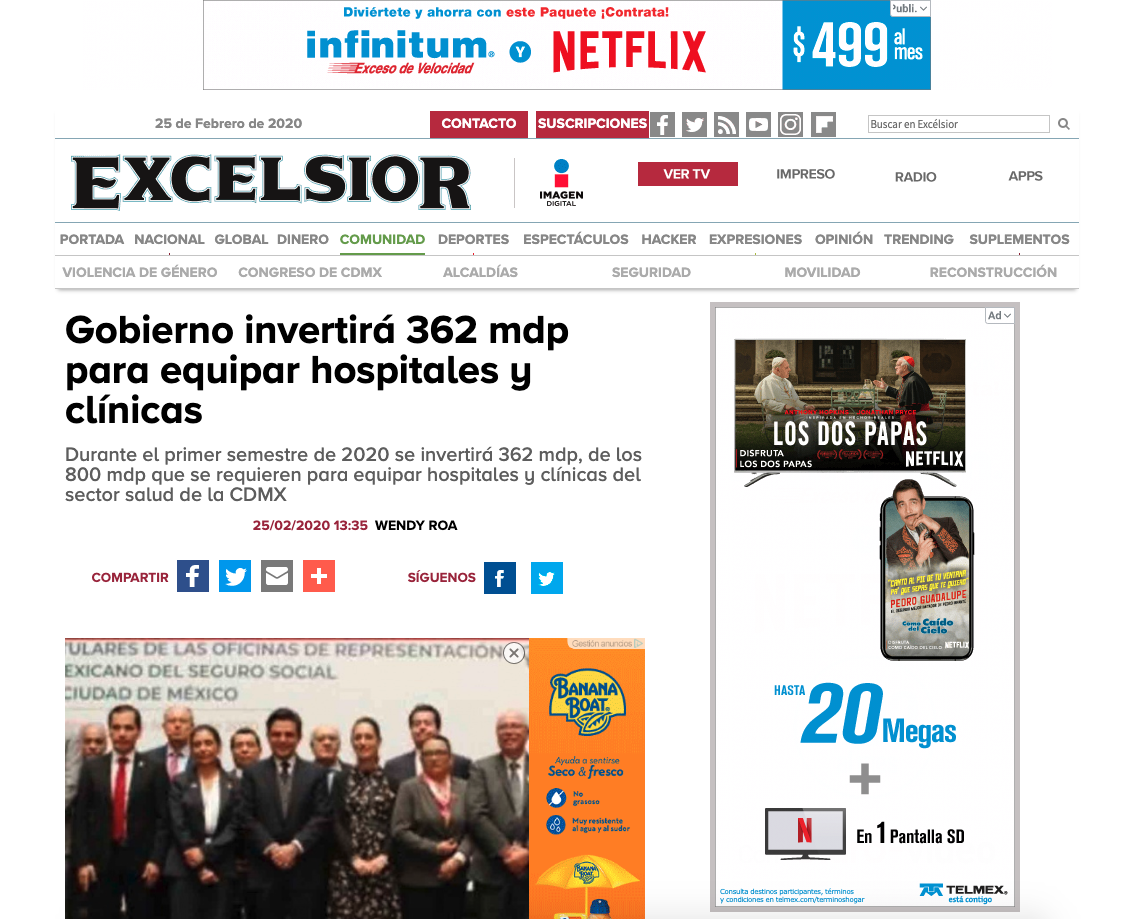 Ejemplo de red de display de Google Ads