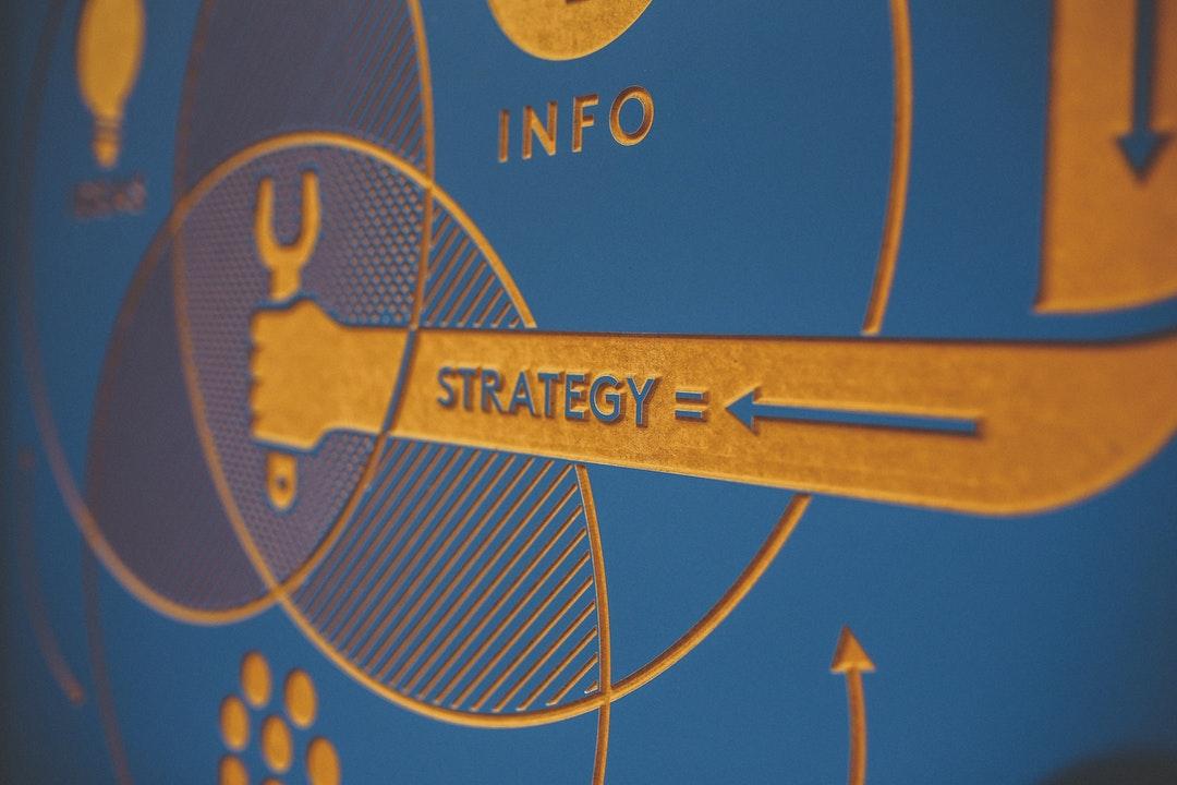 Representación en relieve de estrategias de marketing.