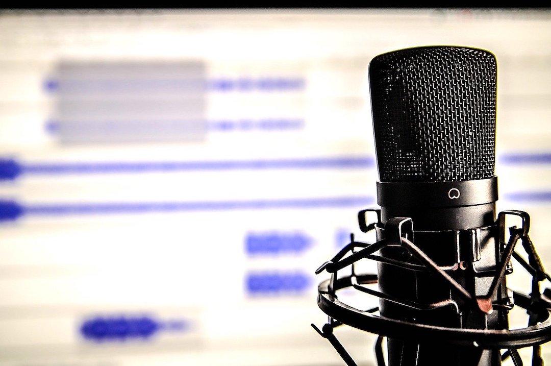 Micrófono para hacer podcast.