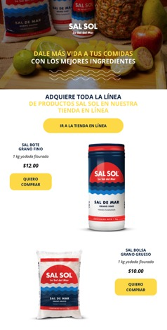 Call to action Sal Sol