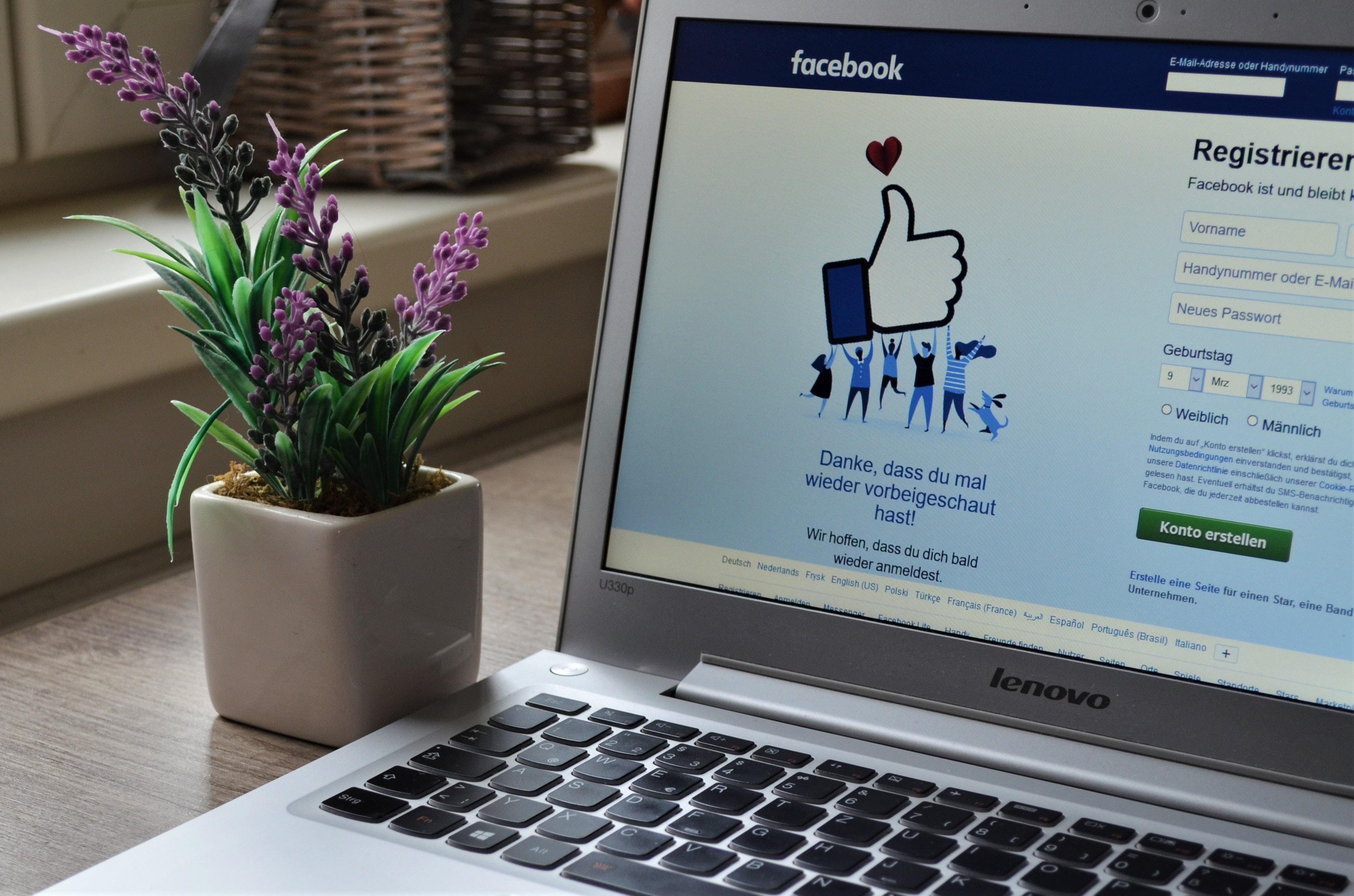 crear una cuenta de facebook es el primer paso