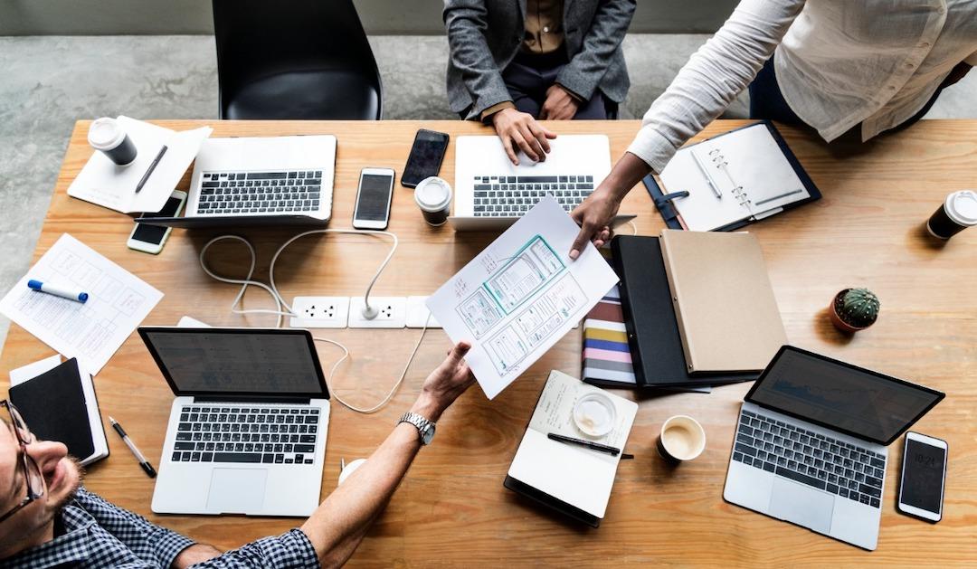 Mesa de trabajo, diseñadores web