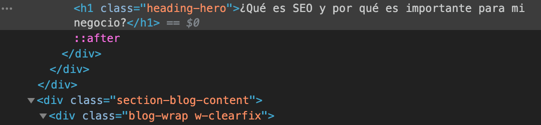 Código HTML de nuestro blog.
