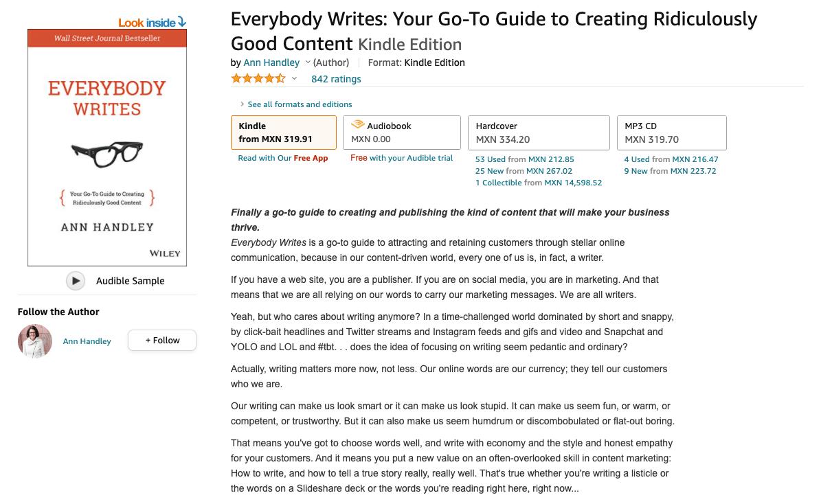 Libro: Everybody Writes.