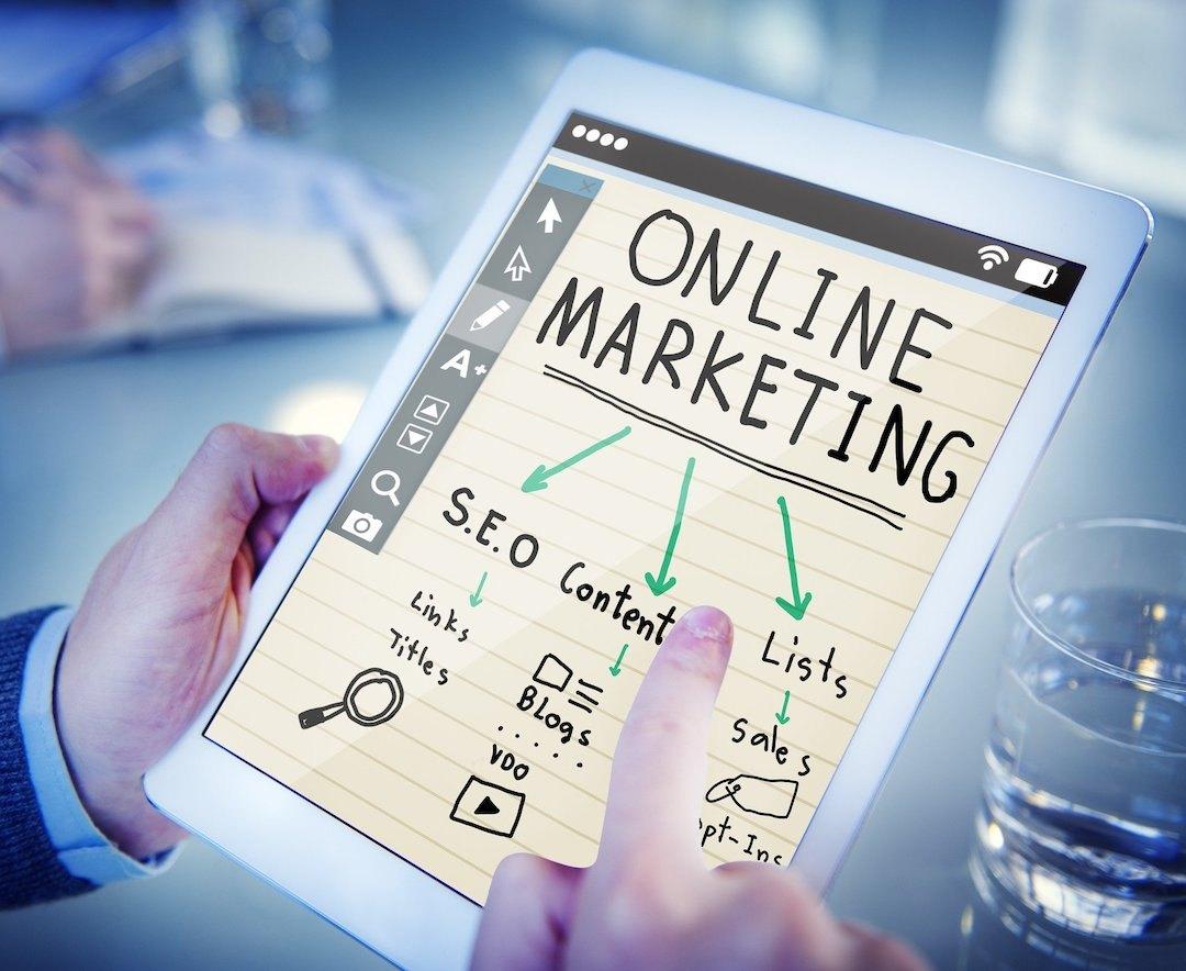 Nota de marketing online.