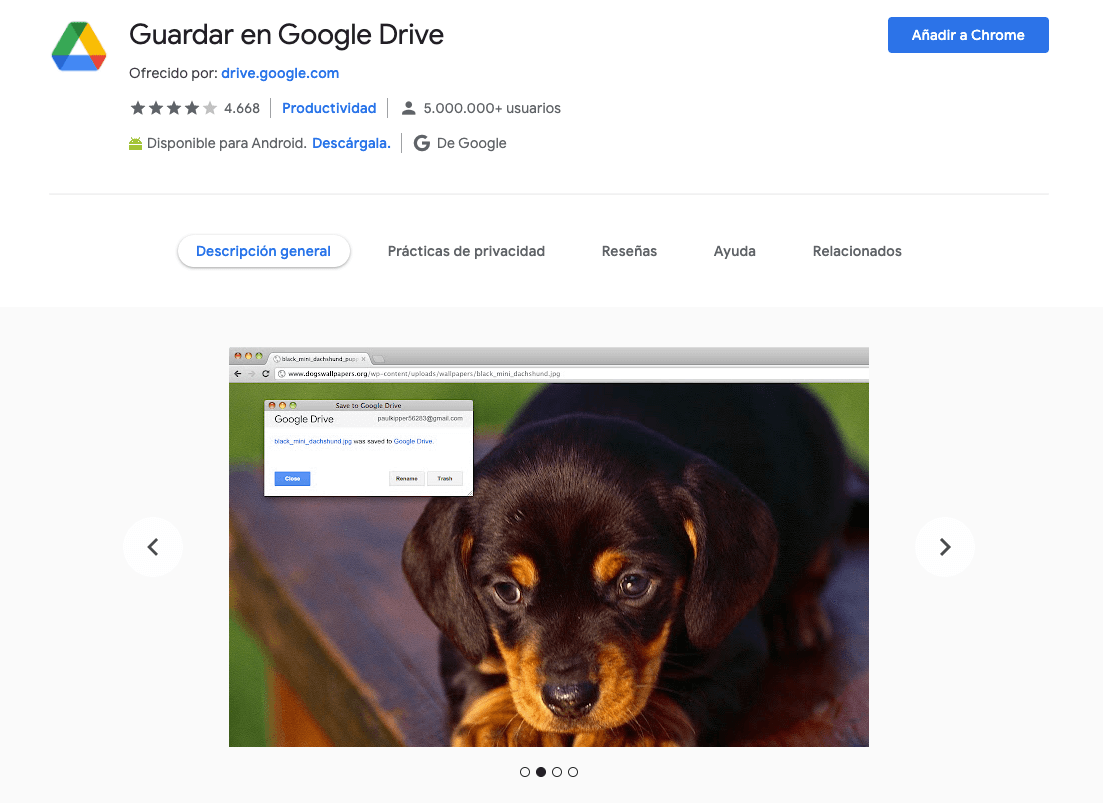 Guardar en Google Drive.