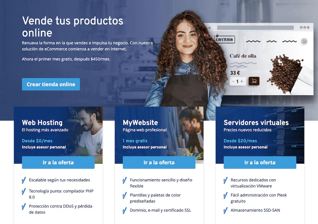 Sitio web de IONOS.