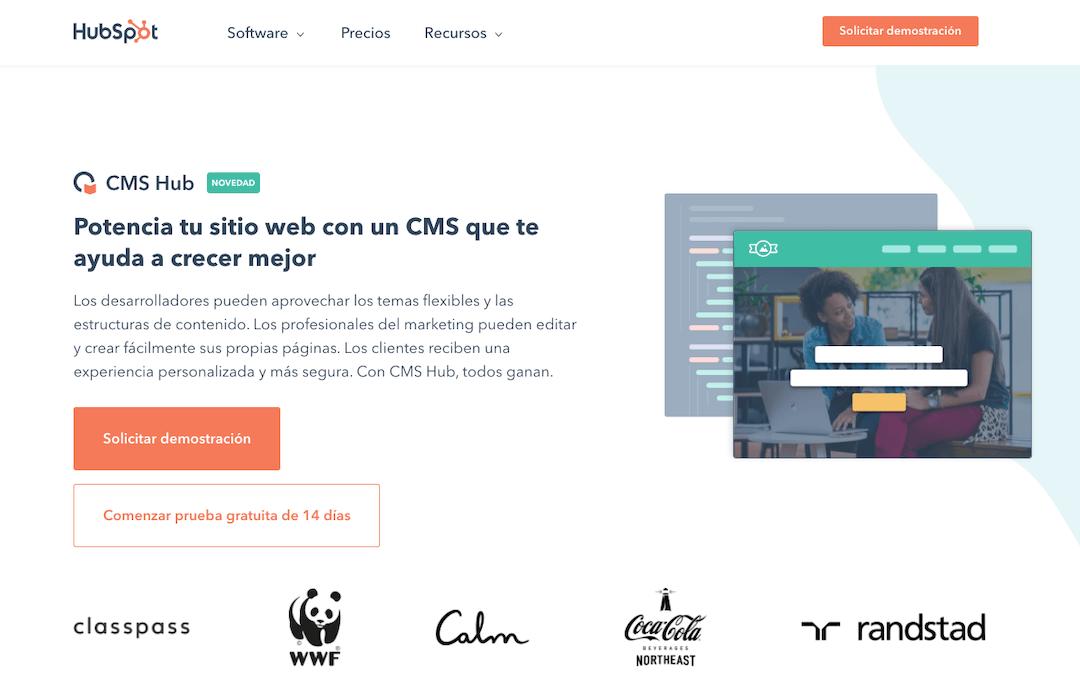 Sitio web de CMS Hub de HubSpot.