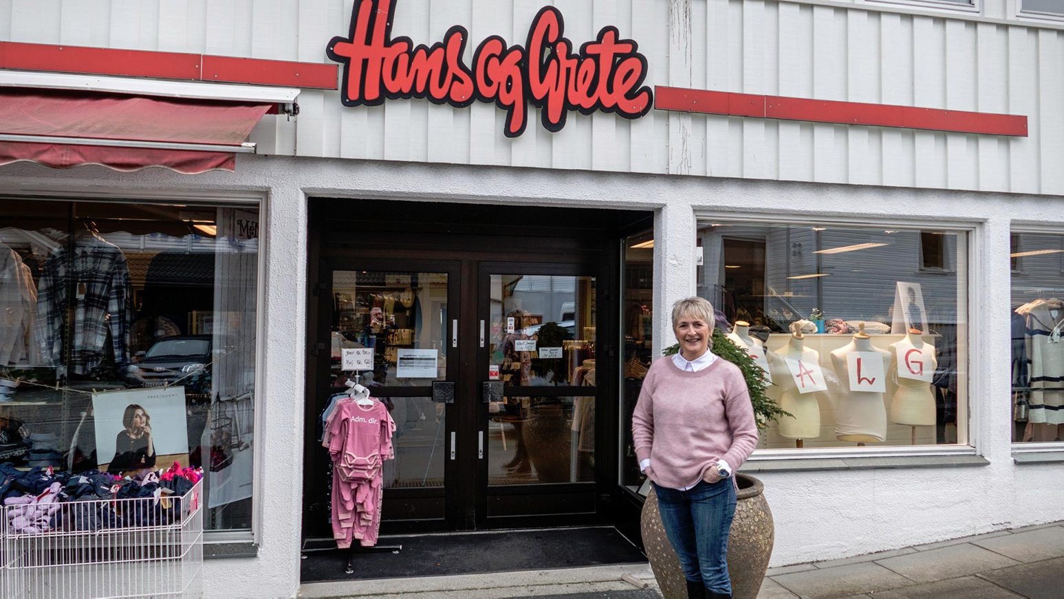 Bilete av Hans og Grete butikk i Sjoargata.