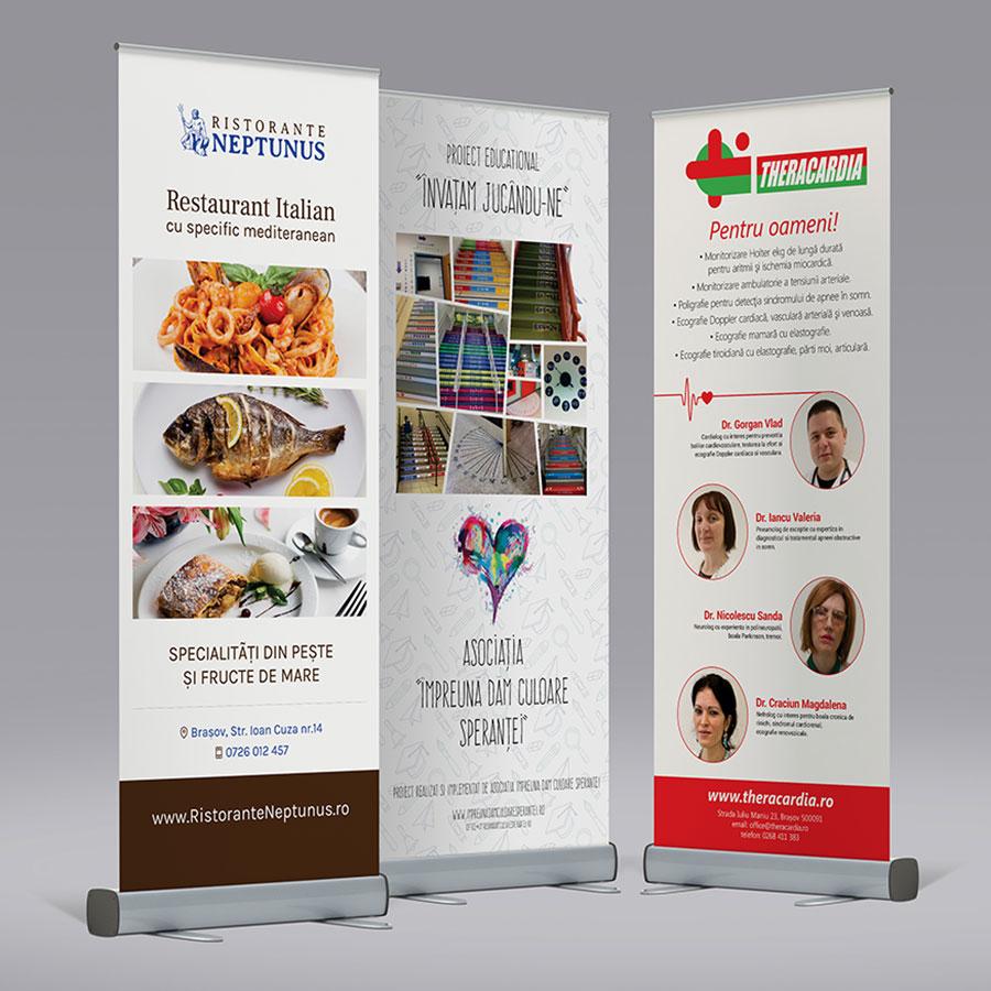 Roll Up Banner complet (sistem + print)