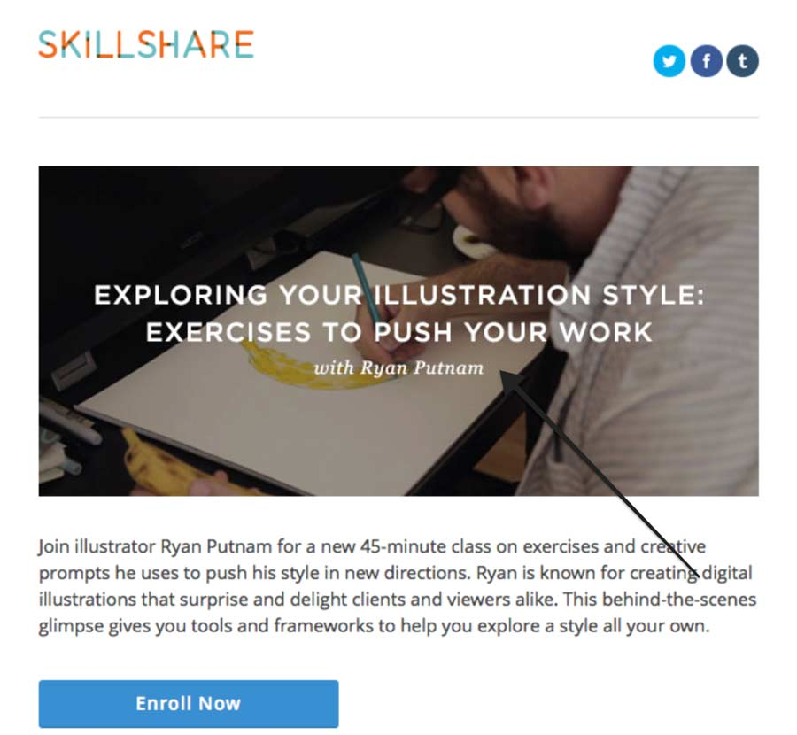 Email marketing tip: Use images with text in headers